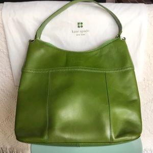 Kate Spade green hobo bag